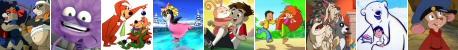 Pompoko/Toufu Tounu/Yogi l'Ours/A la Recherche du Père Noël/Toy Warrior/Toupu/Le Noël des 9 Chiens/L'Enfant qui voulait être un Ours/Fievel au Far West